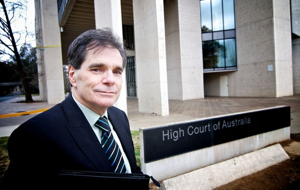 Ron Williams outside the High Court.