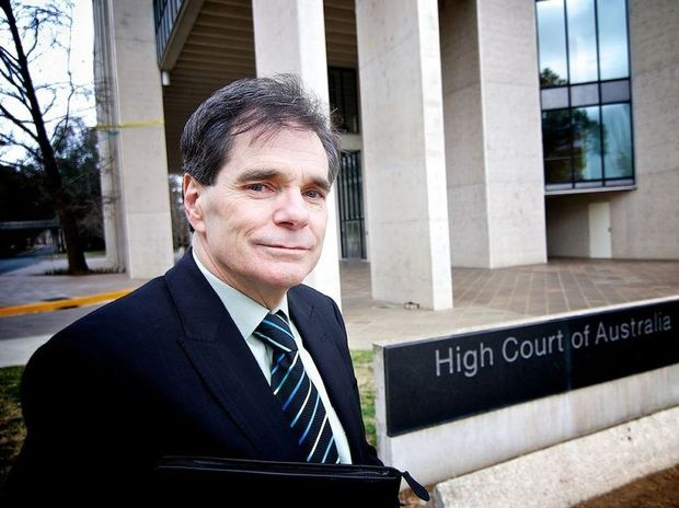 Ron Williams outside the High Court of Australia. Photo Nelson Lau