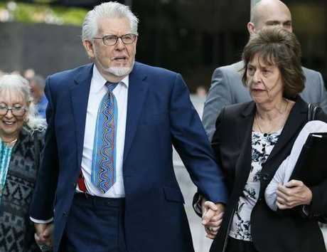Rolf Harris outside the court during his trial.