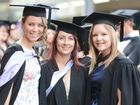 Michaela Arthur, Jenni Atkinson and Tegan Andrews graduate with BA Education.