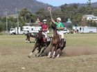 Polocrosse action from the Killarney Polocrosse Carnival A Grade Final between Warwick 1 and Tansey 1.Photo John Towells / Warwick Daily News