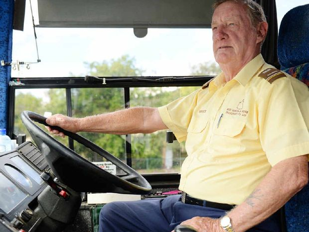 FOREVER YOUNG: Bruce Simpson, 76, looks forward to many more years in the driver's seat. For Bruce, working and playing golf are the keys to making the most of the prime of his life.