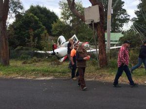 Giant parachute saves three people in plane crash