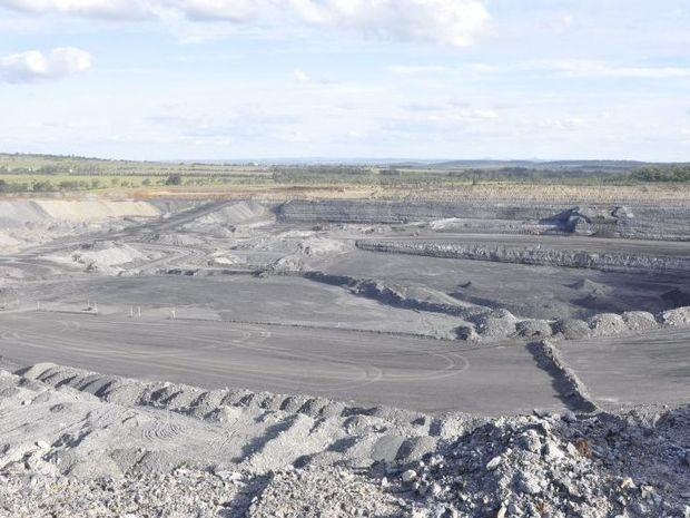 A New Acland coal mine pit