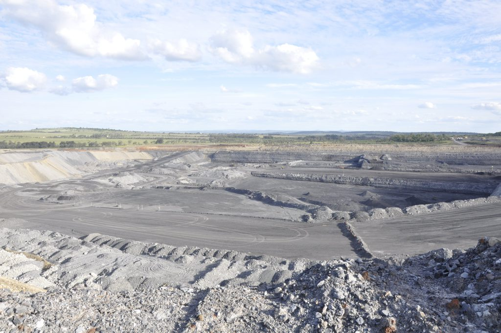 A New Acland coal mine pit is progressing in a southerly direction.