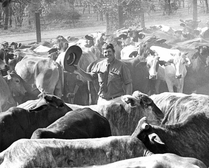 Cattleman Graeme Acton. Photo The Morning Bulletin Archives