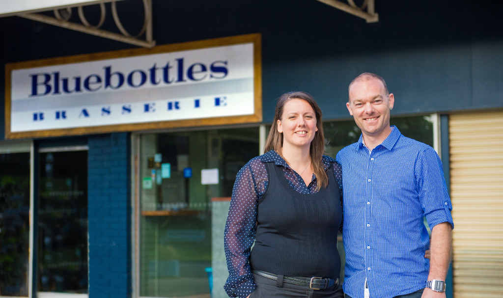 FRESH FACES: New owners Renee Chapman and Dan Weiss are working feverishly to re-open Bluebottles Brasserie.