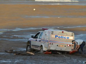 Police bogged after routine patrol saw them stuck in mud