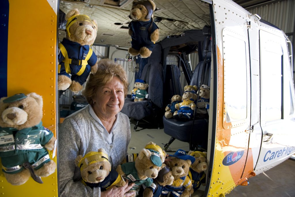 Bev Mann is donating more than 400 careflight bears to kids in Papua New Guinea.