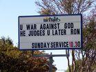Church billboard warns anti-chaplain dad 'God judges'