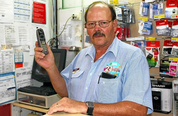 OFFLINE: Gatton Plaza News owner David Keys has still not had phone services reconnected after more than 12 days.