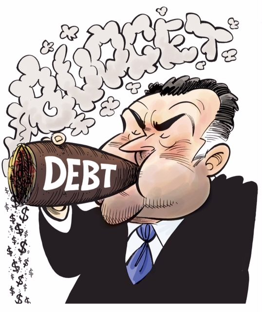 A cartoon drawn following Joe Hockey's 2014 Budget.