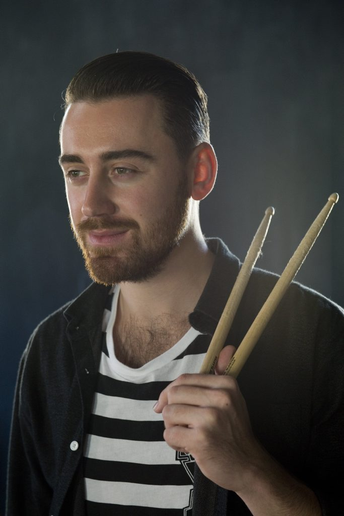 Kosta Theodosis of Amy Meredith is holding a drum clinic in Toowoomba before he moves to Los Angeles.