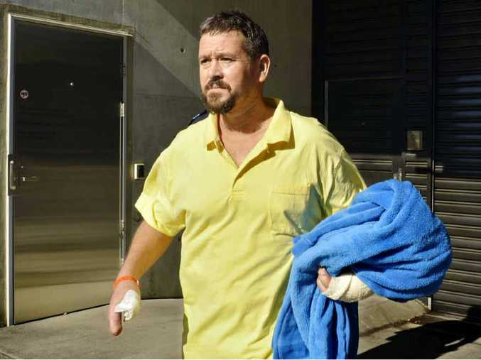 ACCUSED: Mark Tear, one of the men accused of making explosives, leaves Ipswich Police Station after a court appearance last year.