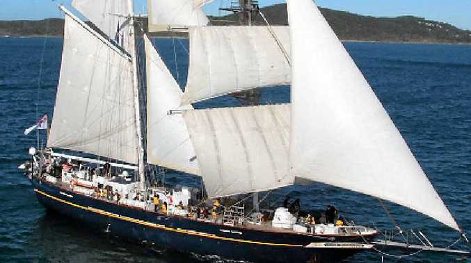 IMPRESSIVE SIGHT: The sail training ship Young Endeavour will dock at Abell Point Marina at 10am tomorrow.