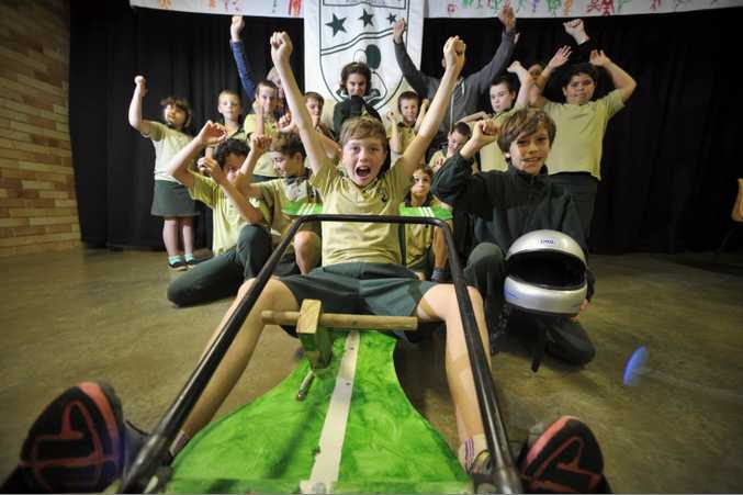 Lismore Heights Public School students have proudly built their own go-kart which they will enter into the Bangalow Billycart Derby.