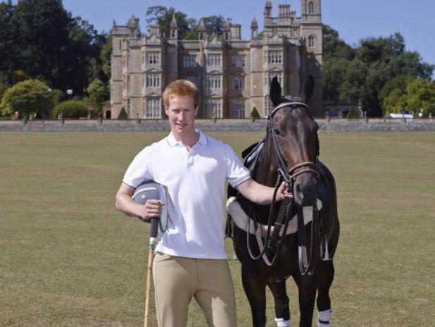 Matthew Hicks posing as Prince Harry.