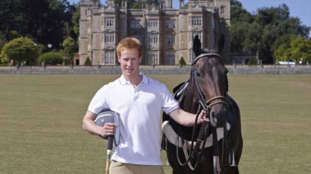 Matthew Hicks posing as Prince Harry.