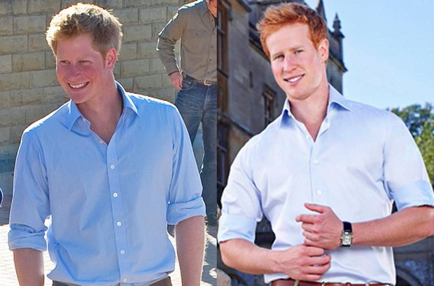 Spot the difference: Prince Harry, left, and Matthew Hicks.