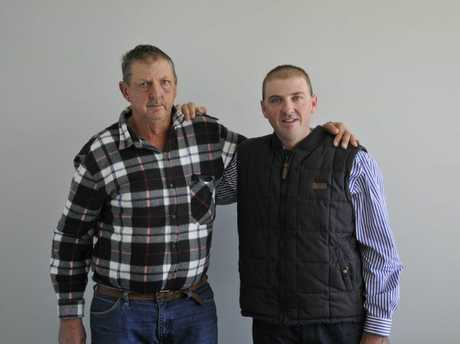 Ian Weier (left) with his son Brent who was fired from the Toowoomba Regional Council parks and gardens department.