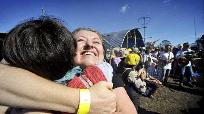 Moods were high at the Bentley Protest Camp after the government suspended Metgasco's exploration licence.