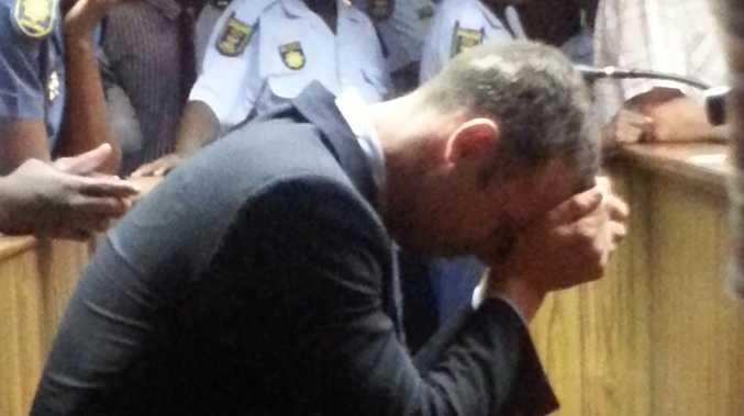 Oscar Pistorius.. a broken man.