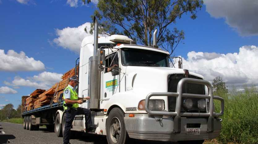 CRACK DOWN: Truck drivers will be targeted in a police operation across the Western Downs this week.