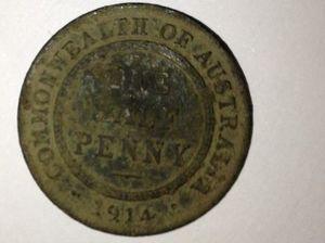 1914 coin found in Mundubbera show jump arena