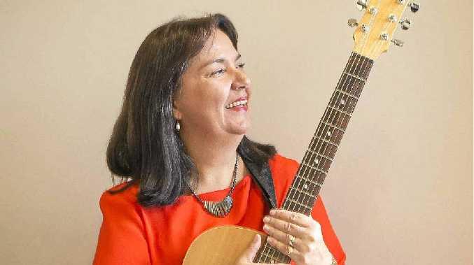MUSIC THERAPIST: Kathy Butcher. PHOTO: ADAM HOURIGAN