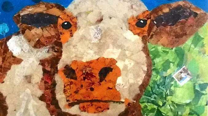 MOO THERE: Artwork by Sue Daw will be on display at Cedar Galleries.