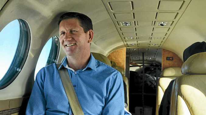TIME OUT: Local member Lawrence Springborg sneaks in some down time on his health trek.