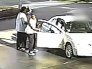 Car stolen as driver refuels