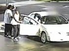 Video: Car stolen while driver fills up