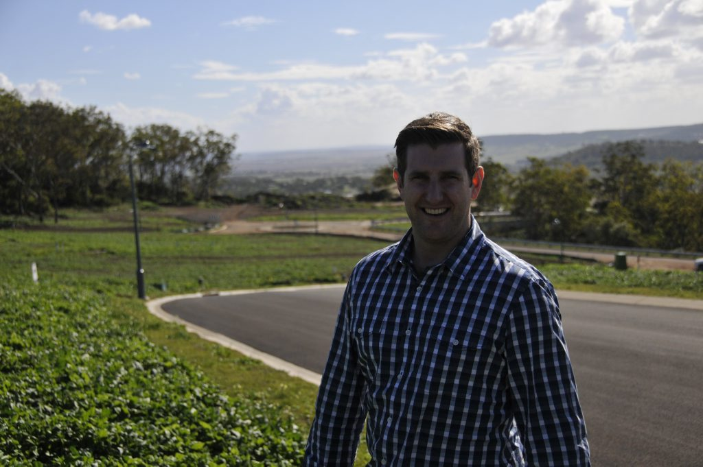 Consolidated Properties project manager Scott Macgregor is confident builders will start on the first Sanctuary Rise estate homes within a month.