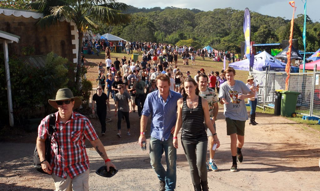 Image for sale: Big Pineapple Music Festival: crowd making their way between stages. Photo: Brett Wortman / Sunshine Coast Daily