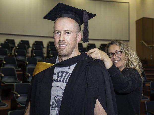 Matthew McKeon has been awarded the prestigious academic title of valedictorian for the University of Southern Queensland Fraser Coast graduation ceremony in Maryborough.