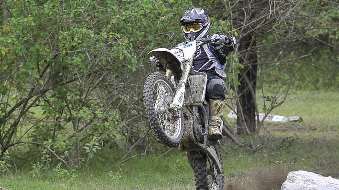 Chris Mills at the Curtis Coast Trail Riders Reloaded event.