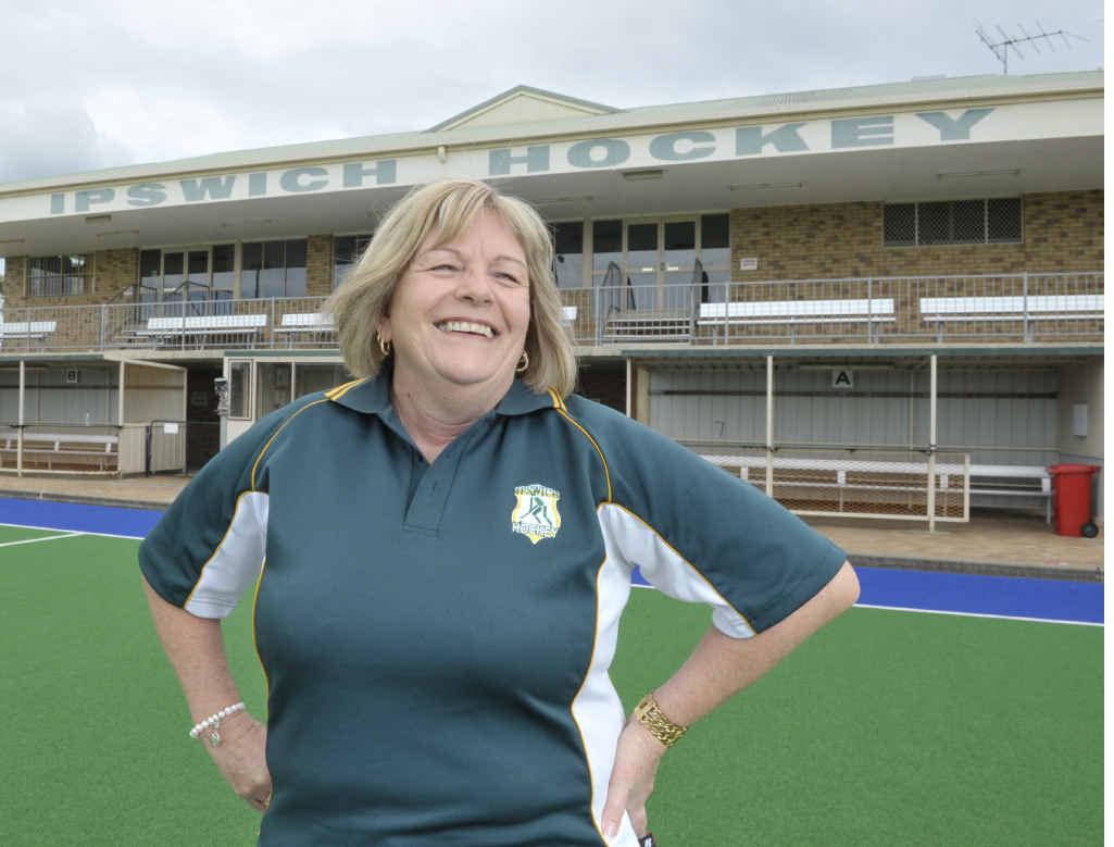 Ipswich Hockey Association president Margret Mantell.