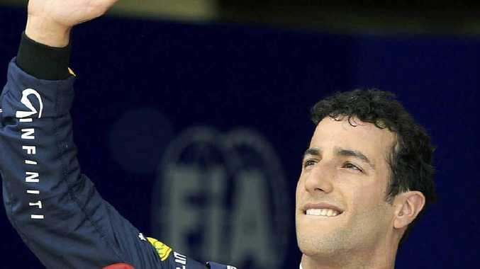 DRIVE TO SUCCEED: Australian driver Daniel Ricciardo of Red Bull carries Australia's best hopes of having another Formula One world champion in over 34 years, according to Sir Jack Brabham (inset).