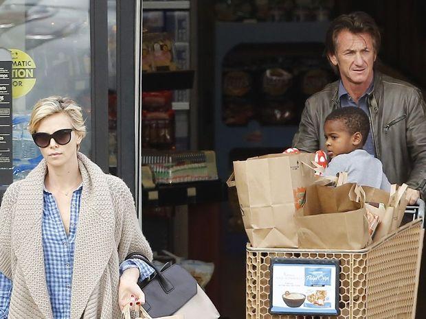Charlize Theron, Sean Penn and her son Jackson