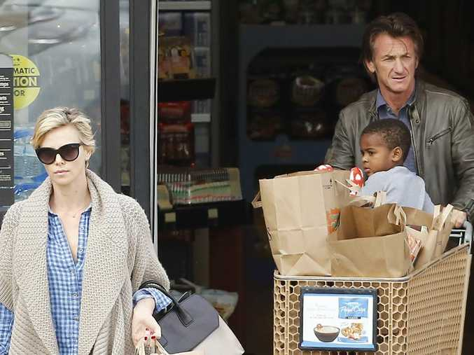 Charlize Theron, Sean Penn and her son Jackson