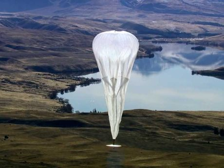 Google's Loon Project hot air balloon.