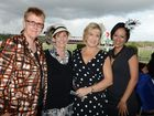 Kath Everett, Margaret Llewellyn, Judy Eddy and Claire Thomas at the Mayoress Community Charity Day on Friday. Photo: Sarah Harvey / The Queensland Times