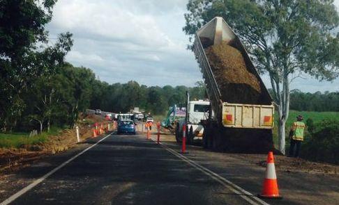 Roadworks on the Maryborough-Hervey Bay Rd near the Saltwater Creek bridge have been causing delays.