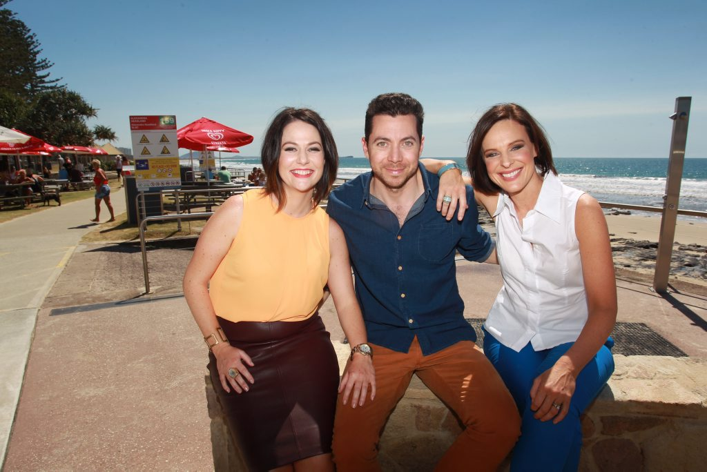 The hosts of channel Ten's new breakfast TV show, Wake Up are Natasha Exelby, James Mathison and Natarsha Belling.