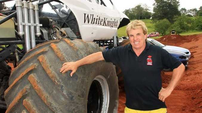 Clive Featherby and one of his monster trucks