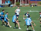 The NSW Blues during their opening training session today at Novotel Pacific Bay.
