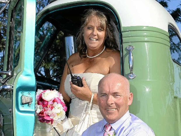 Carolyn Stewart and Robert Ettery tied the knot at the Peak Crossing pub.