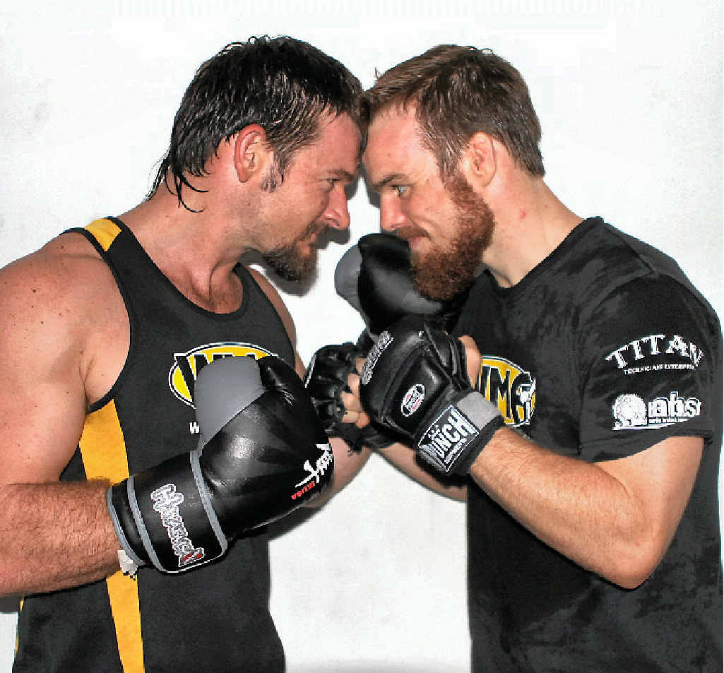 SHAPING UP: Local fighters Adam Mitton and Dan Zealand are ready for another epic Airlie Fight Night on this Saturday, May 24.