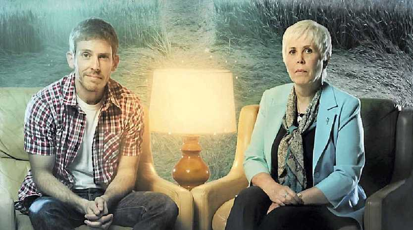 Mary Rodwell and her sceptic son Chris have featured in an SBS documentary about UFOs.